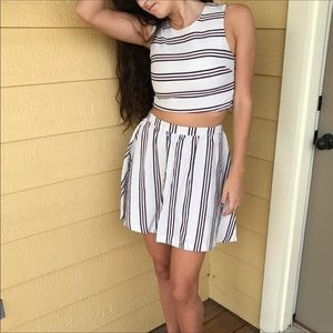 Anthropologie Mo:Vint striped two piece